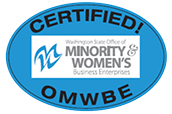 Certified Woman-Owned by the Washington State Office of Minority & Women's Business Enterprises